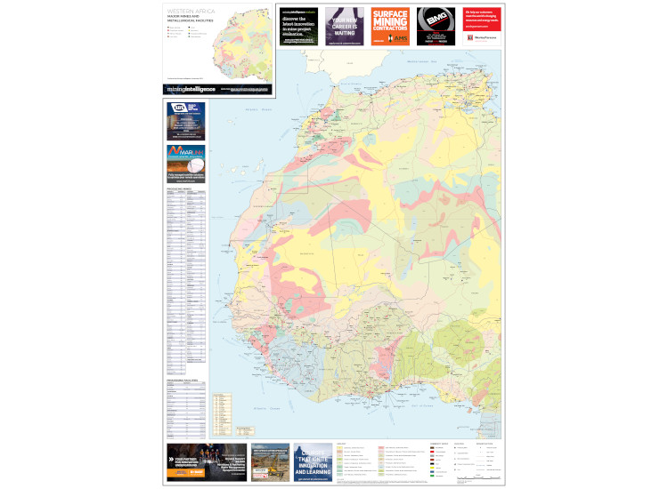 Western Africa Mining Map